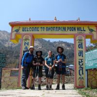The team arrivesat Ghorepani
