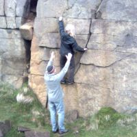 May 2009: keen climbers at Running Hill Pits (Christine Stark)