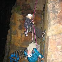 Jul 2009: Trish and Al - rescue exercises at Hobson Moor (Christine Stark)