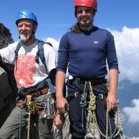 Fatty and Skinny on summit of Piz Balzet (James Richardson)