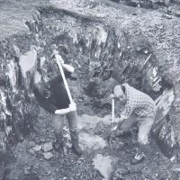 13 Phil Kendell & John Castick - septic tank excavations (Derek Seddon Collection)