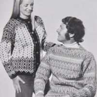 16 Sandy & Jim Gregson - Unlikely fashion models for Milly Blacks skiwear catalogue shoot - late 1970s (Derek Seddon Collection)