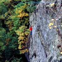 Alf on Spin-up - Falcon Crag - Borrowdale 1973 (Sean Kelly)