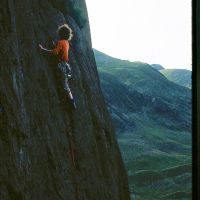Alf leading Suicide Wall - Idwal