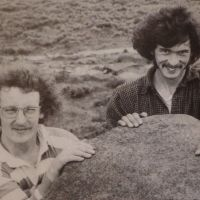 Alf Gleadell and John (Wacker) Whittle - Stanage 1974 (Derek Seddon Collection)
