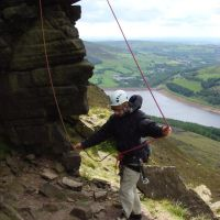 Al demonstrates rope management in high wind (Dave Shotton)