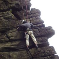 Al on Nasal Buttress (Dave Shotton)