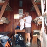 You take my photo and your going back in the bag! Spataro Bivouac Hut, Valpelline. (Colin Maddison)