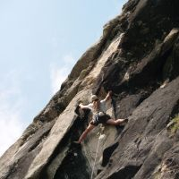 Duncan stretching it on Strada Del Nivolet, Valsaveranche (Colin Maddison)