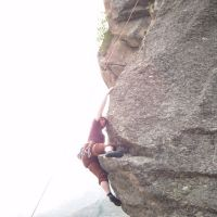James styling it on Palestra Delle Guide, Valsaveranche (Colin Maddison)