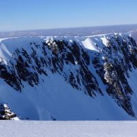 Cornices on the East Face of Aonach Mor (Andy Stratford)