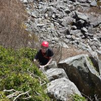 "Mark on ""Bramble Buttress"" (Dave Wylie)"