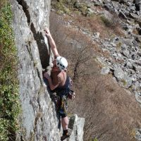 "Dave on ""Bramble Buttress"" (Dave Wylie)"