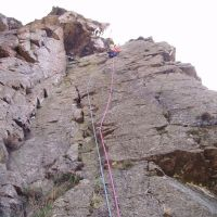 Andy Straford - P1, Slip Knot, White Ghyll, Langdale. (Colin Maddison)