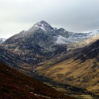 Looking up Glen Sannox to Cir Mhor (Dave Wylie)