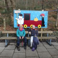 Lester & Roger await the Santa Special at Cei Llydan station (Llanberis Lake Railway)