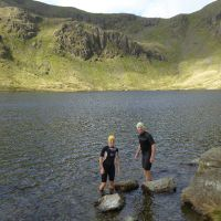 Mark and Michelle in Levers Water (Virginia Castick)