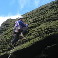 Robs Rocks - Jim leading the only route completed (Roger Dyke)