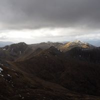 The western mamores from Binean Mor (1130m) (Andy Stratford)
