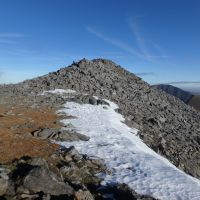 An elusive snow patch on Elidir Fawr