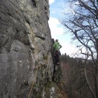 Cragging at Dunkeld (Colin Maddison)