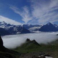 Highly commended - Schreckhorn and the Eiger from the Schwarzhorn (Andy Stratford)
