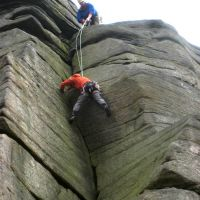 Jim & Andy finish Goliath's Groove, HVS 5a (Roger Dyke)