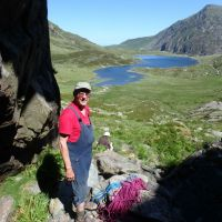 Lester & Kate at the foot of Idwal Staircase