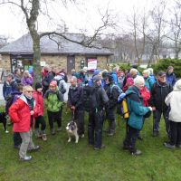Over 50 people gather in Hayfield