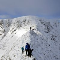 Heading up Striding Edge