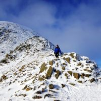 James on Striding Edge (Dave Wylie)
