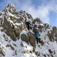 George and Emily on Striding Edge (Dave Wylie)