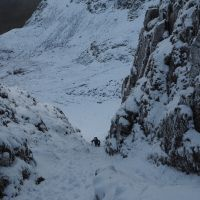 JIm Climbing out of Ruthwaite Cove, Nethermost Crag