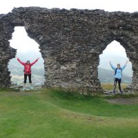 Throwing shapes at Castell Dinas Brân