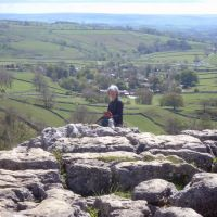 On the edge at Malham Cove (Dave Shotton)