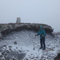 Lester by the trig point on Totridge (Dave Shotton)