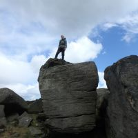 Dave W on the lookout from Hurkling Stones (Dave Shotton)