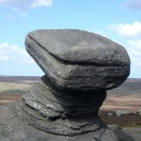 'Anvil' stone on Back Tor