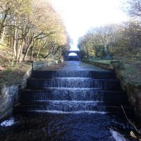 Fine Victorian civil engineering - Yarrow Reservoir overflow channel