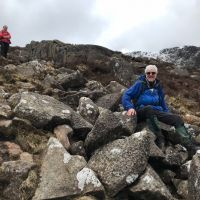 Fiona Dixon and Dave Wiley on Moel Siabod (Emily Pitts)