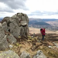 Rob on the approach to Daear Dhu Moel Siabod (Emily Pitts)