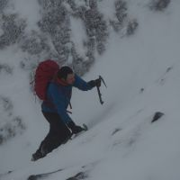 Mountain Action. - Highly Commended - Stuart Hurworth soloing Col Gully, Glyderau