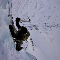 Mountain Action. - Third Place - Craig Marsden on the Curtain IV,4, Ben Nevis
