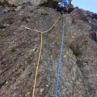 Duncan on Sunlight Crack (HS), Sunlight Crag (Levers Water). (Colin Maddison)