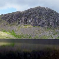 Harrison Stickle and Pavey Ark over Stickle Tarn
