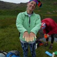 Cold fingers at Easdale tarn