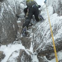 Craig in Hidden Chimney, Coire an t-Sneachda