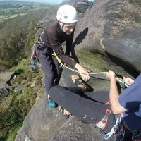Dave Wylie tops out on Zigzag (David Rainsbury)