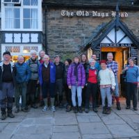 Group photo at Old Nag's Head, Edale after the Foundation Meet Walk
