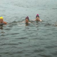 Swimming in Innominate Tarn